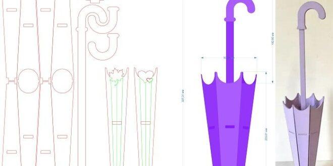 Laser cut 3D Puzzle Umbrella