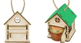 House with jar honey