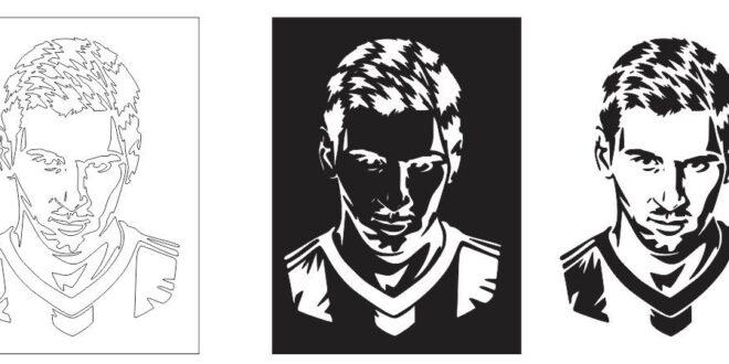 Lionel Messi Silhouette CDR DXF Vectors