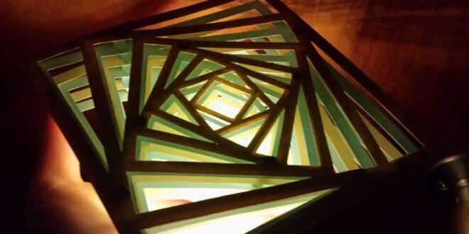 Free Squares Layered lamp decor