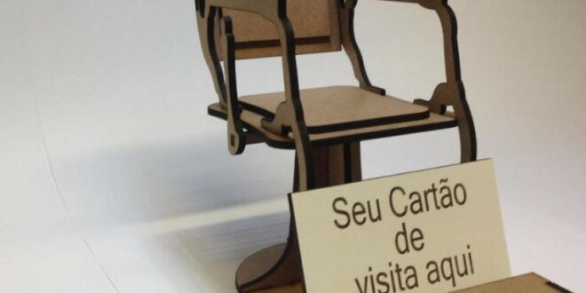Free barber chair miniature for business cards