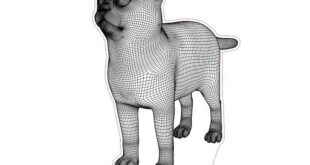 cat 3d illusion lamp 2d vector to laser engraving CDR DXF