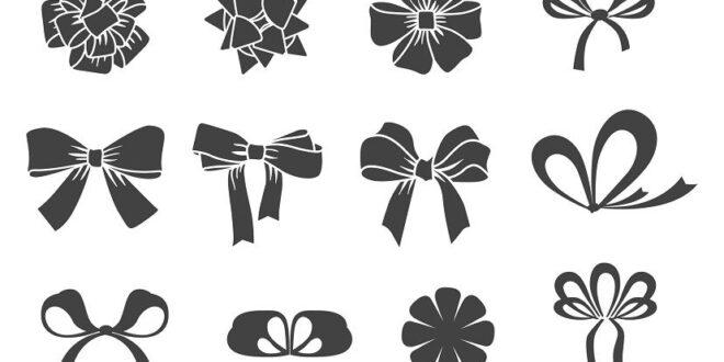 SVG Free Flat bows set