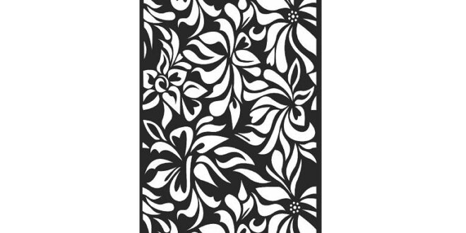 Free floral pannel dxf