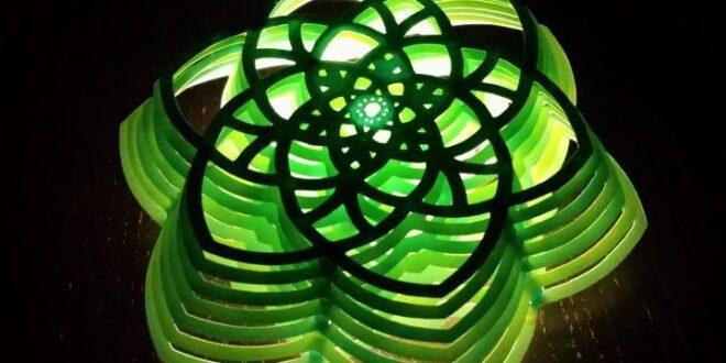 Free flower multi layer lamp
