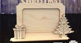 Free photo frame merry christmas for laser cut