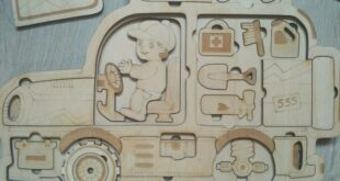 Complete puzzle car kids to laser cnc engraving and cut CDR and DXF Files