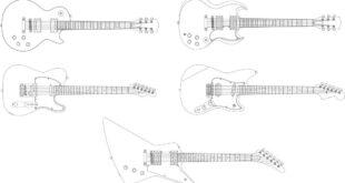 Guitar Free vectors DXF SVG